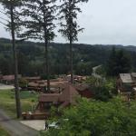 Views of and from cabin UV11.  Clean, nicely laid out by owners and hottub on the deck with grea