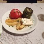 Stuffed peppers and a whopping big steak, top class food!!!!!! 5* all the way!