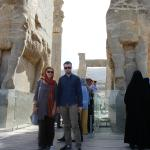Myself and my son at the entrance of Persepolis