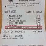 La facture... pour preuve