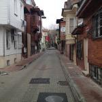 Улочка , на которой расположен отель