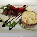 goat cheese and chives tartlet, boretone onions and chipotle peppers
