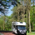 Motorhome arriving at Skelwith Fold