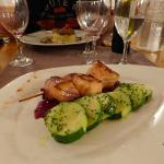 Brochette saumon courgettes, excellents !