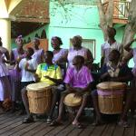 Local drumming on Belizean night!
