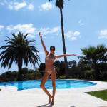 Enjoying the pool and cote d'azur sunshine!