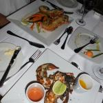 Sea and See Restaurant on Beach - two kinds of lobster