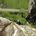 Climbing with Terry at Tremadog