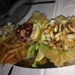 Mixed appetiser platter before dinner. Delicious!