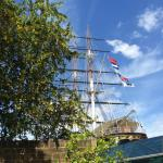 View of the Cutty Sark from the beer garden