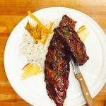 smoked ribs with lechon rice
