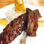 smoked ribs with lechon rice... see the lechon skin there? crispy!