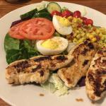 Grilled chicken tender salad at Cracker Barrel in Shelbyville, IN.