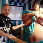 I have seen fatter people on television..