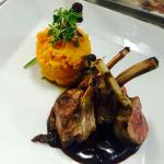 Two of our new Dishes.... Lamb Rack with a Kumara & Spinach mash and a Red Wine Jus