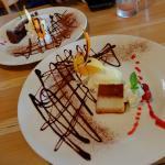 mammamia's pudding and chocolate cake