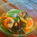 noodle soup with shrimps