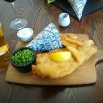 Fish, chips, peas & beer :)