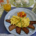 One of the delicious home-cooked breakfasts included in our stay