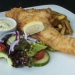 Locally landed fresh haddock and chips