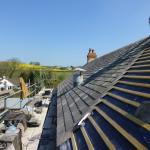 Last few slates to finish the new roof