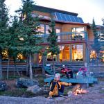 Main lodge - Summer nights at the fire.
