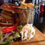 Home made Guiness Burger