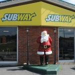 Subway Restaurant in Santa Claus, Indiana