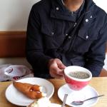 Icelandic doughnut, Carrot cake, and coffee!