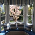 New window seat in our Breakfast Room