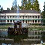 The venerable and fabulous Wawona Hotel at sunset