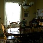 Dining room in keeper's cottage