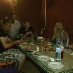 Ambiance diner entre clients et Staff de l'hotel ( Jawad & Mounir )