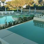 private pool on terrace overlooking hotel pool