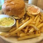 Olive burger platter