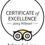 Harrigan's Winner 2015 Tripadvisor Certificate of Excellence