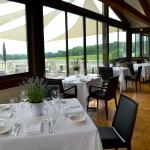 Interior view of the Restaurant over looking the vineyards.