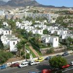 Bungalowanlage vom Hotel Palm Beach aus gesehen