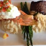 Lobster & Steak~Shrimp sautéed & Steak~House Salad~834 view from our Balconies!! It's a huge Bea