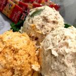 Chicken salad trio - buffalo, fancy Nancy and their original flavor