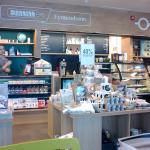 Eymundsson bookstore tea and coffee counter