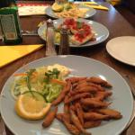 Whitebait, brucheta and calamari