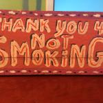 Our property is non-smoking (art by John Preble)