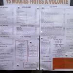 tarifs et menu
