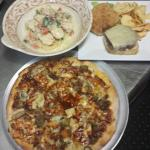 Pasta Petrillo Bbq Pork Pizza and All Natural Burger