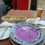Excellent beetroot soup - chilled!