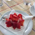 Erdbeeren aufs Haus aus dem eigenen Garten
