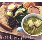 Off the specials boards; the greedy pig platter!