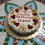 Auguri. (birthday cake).  Torta per compleanno.