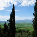 View towards Palazzo Conti from Pienza